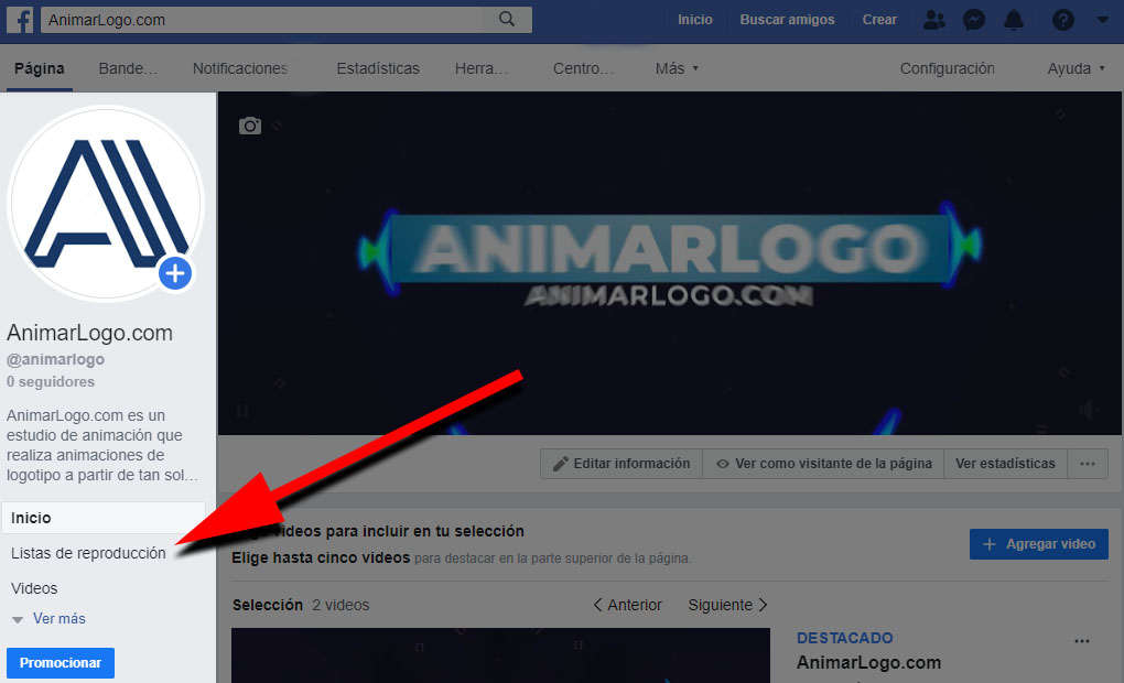 Lista de reproducción Facebook vídeos - AnimarLogo