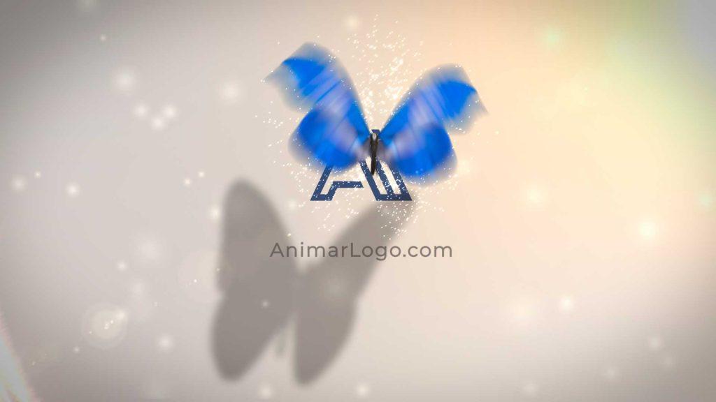 Logo-animado-Mariposa-Azul-AL209-imagen-animarlogo-intro para Youtube