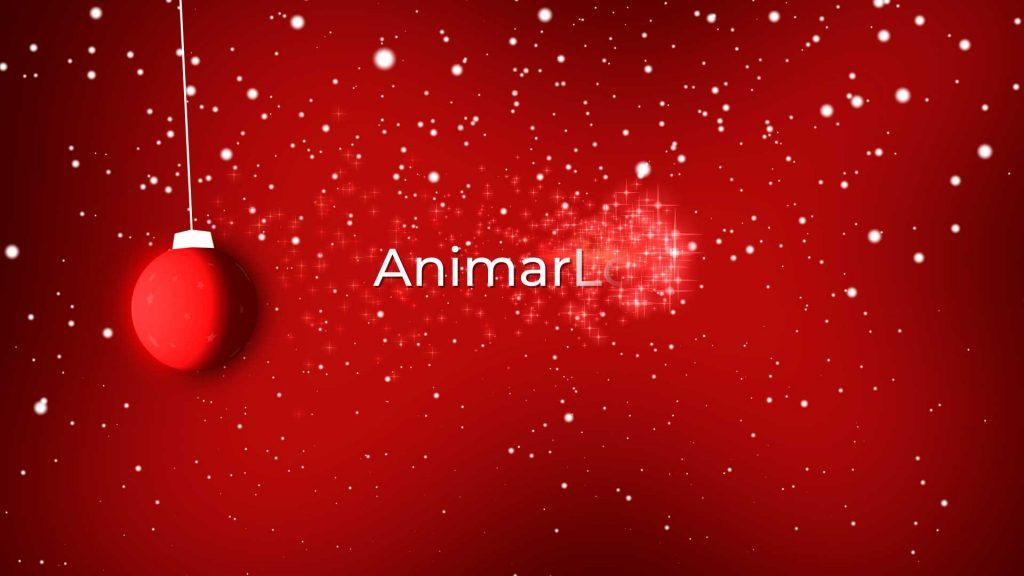 Felicitación-de-Navidad-Bola-de-árbol-AL046-animacion-logotipo