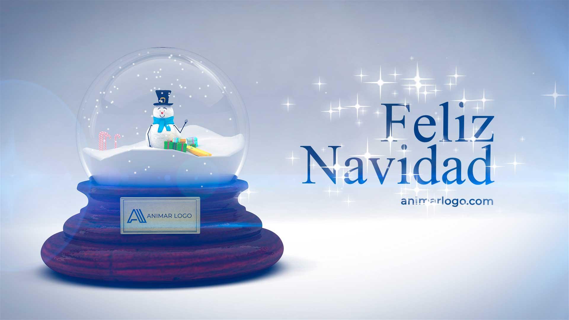 Felicitación-de-Navidad-Bola-de-nieve-AL042-animacion-logotipo