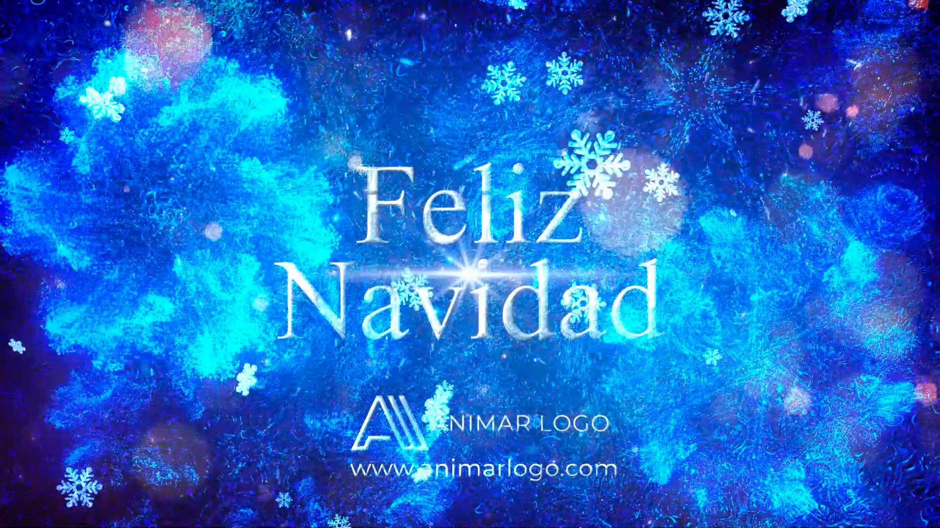 Felicitación-de-Navidad-Magia-azul-AL050-animacion-logotipo