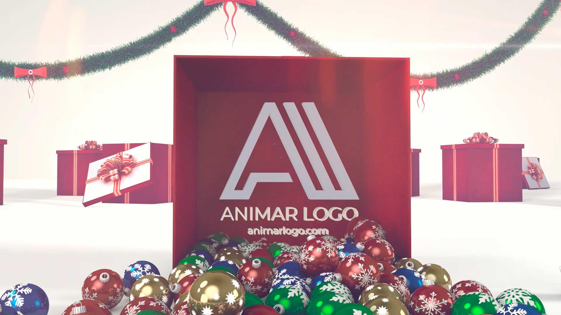 Felicitación-de-Navidad-Regalo-Bolas-AL049-animacion-logotipo