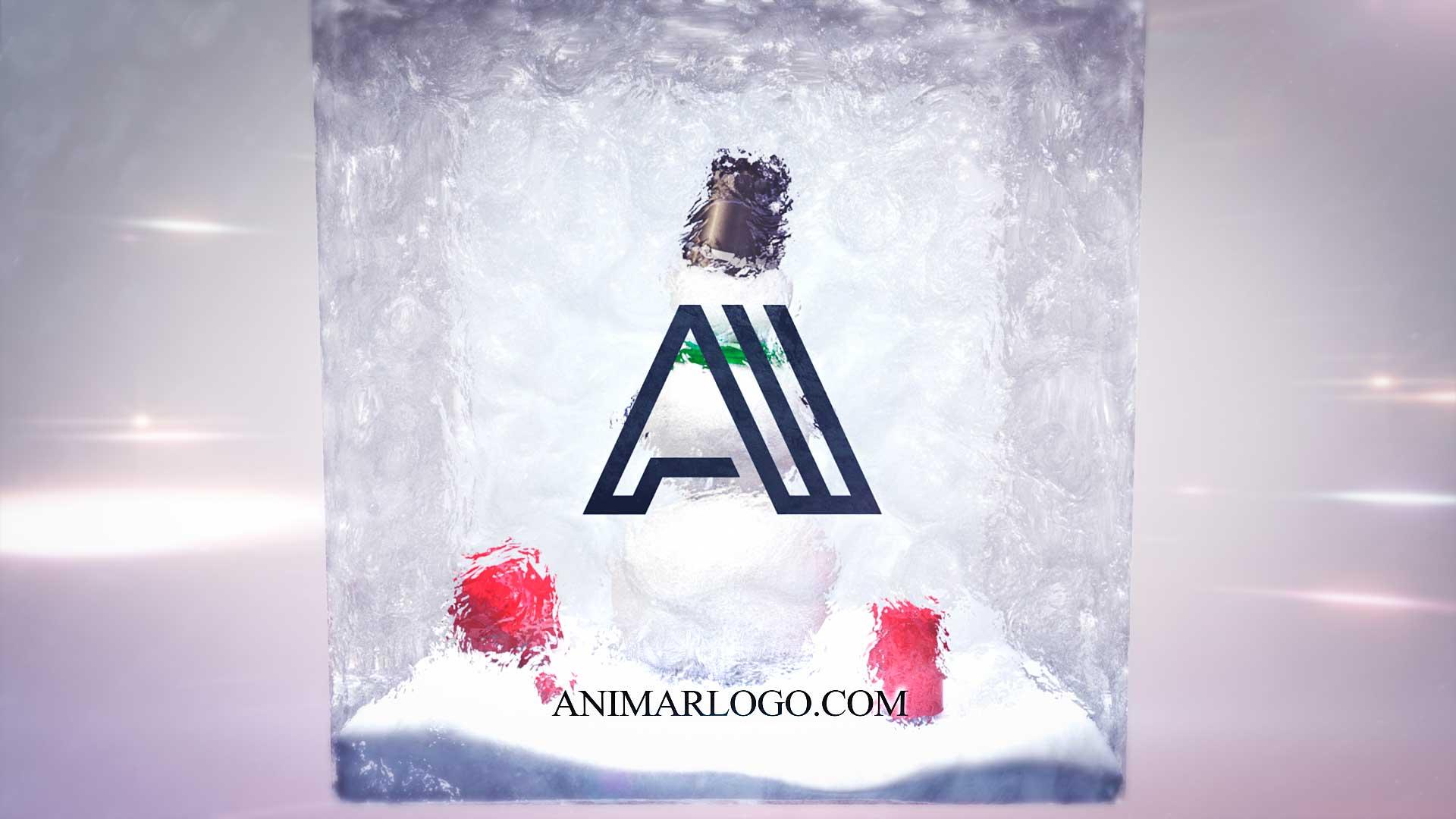 Felicitacion-de-navidad-Cubo-Muñeco-AL025-animacion-logotipo