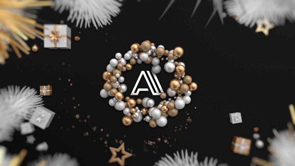 Felicitacion-de-navidad-Decoración-Dorada-AL032-animacion-logotipo