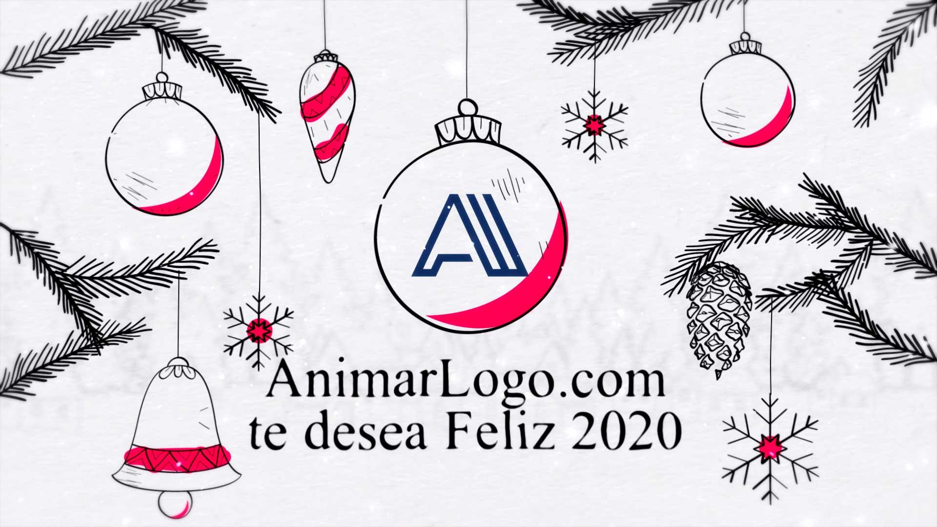Felicitacion-de-navidad-Dibujos-AL027-animación-logotipo