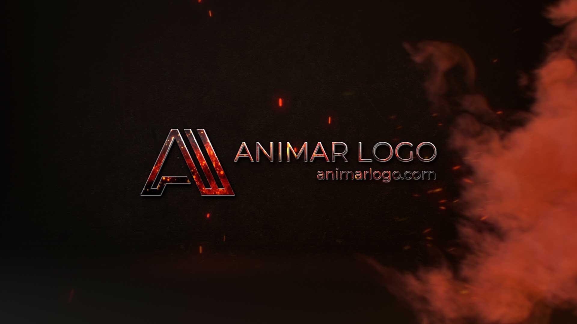 Logo-animado-Llamas-AL309-animacion-logotipo-intro para Youtube